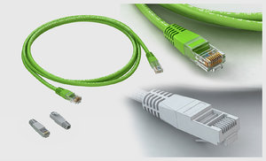 3D network lan cat cable