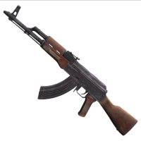3D rifle ak model