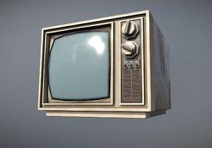 tv 1970s 3D model