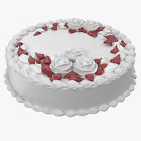 butter cream rose flower 3D model