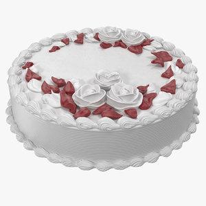 butter cream rose flower 3D model