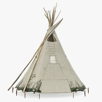 traditional tipi 3D model