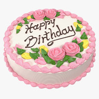 3D vanilla birthday cake