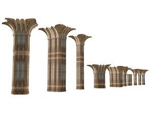 gothic pillars pack 11 3D model