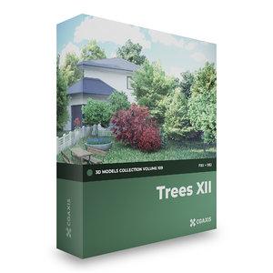 trees deciduous american 3D