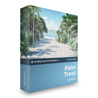 palm trees corona 3D model