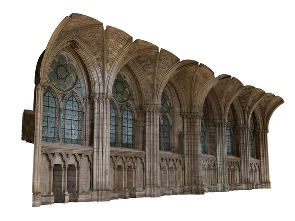 3D model gothic wall 16k