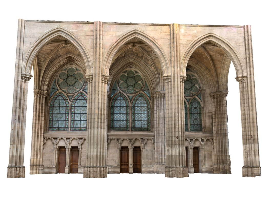 3D gothic wall 16k