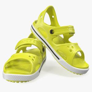 3D crocs unisex kids sandals