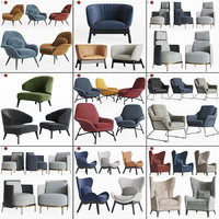 3D lounge armchair 1 9 model