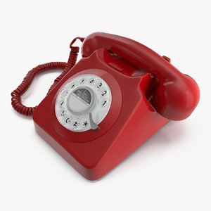 retro design corded landline 3D model