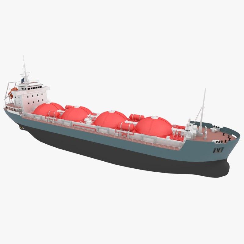original chemical tanker ship 3D