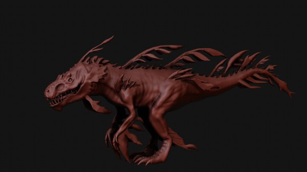 dragon sea seaweed 3D model