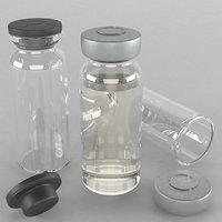 vaccine bottle 3D model