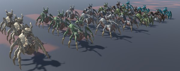 creature unity quin mantis 3D model