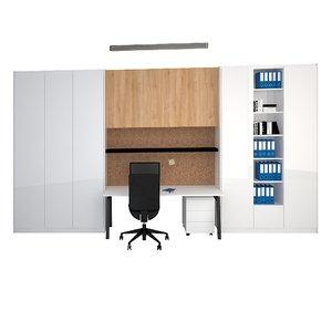 3D office wall