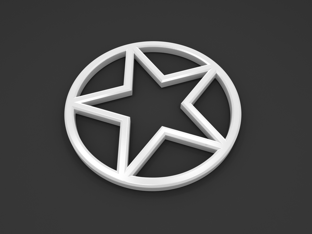 3D circle star model