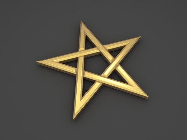 3D pentagram