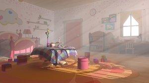 3D bedroom 03 cartoon -