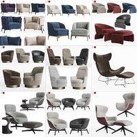 3D lounge armchair 2