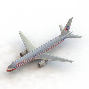 3D model boeing757 boing airplanes