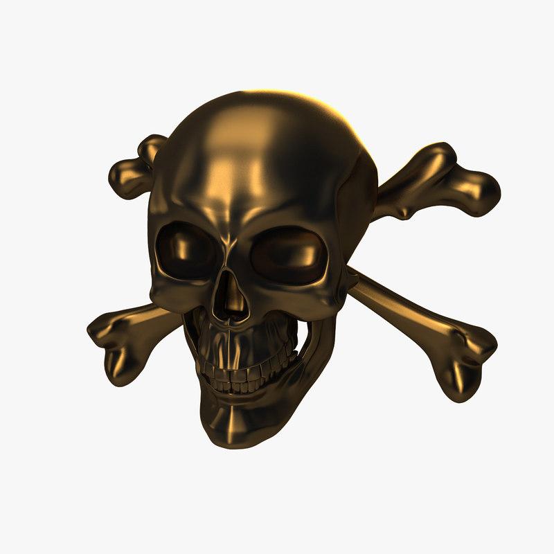 skull bones 3D model
