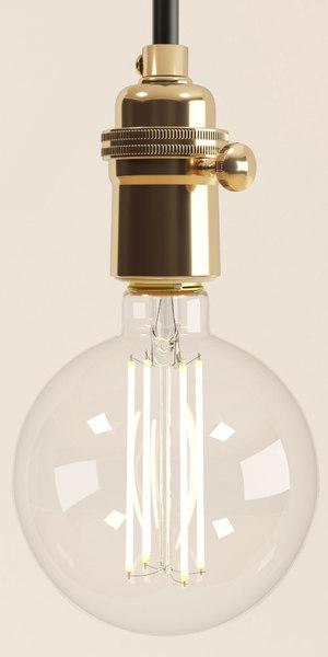 3D model decorative edison led bulb