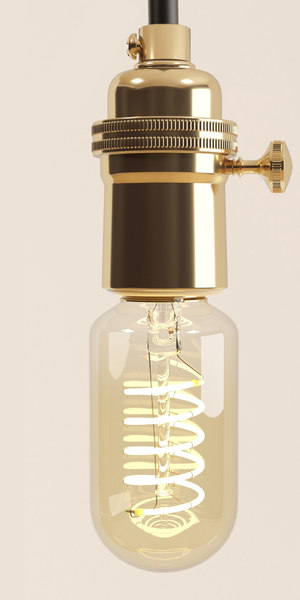 3D model classic decorative edison bulb