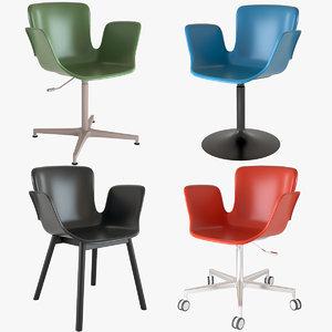 chairs juli plastic cappellini 3D