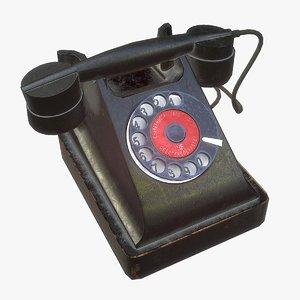3D soviet telephone pbr model