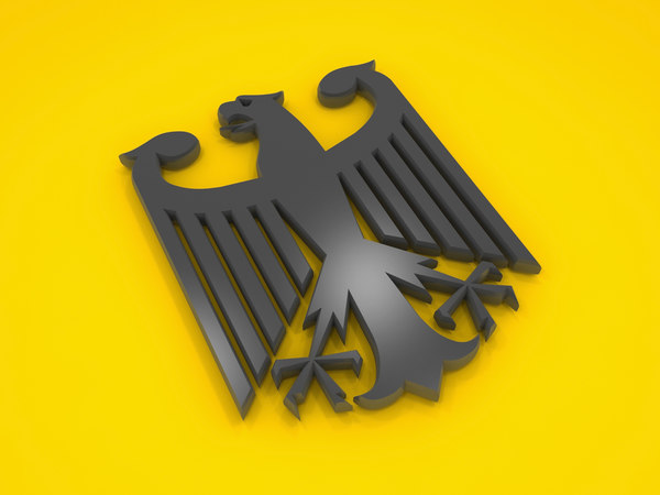 3D model eagle german
