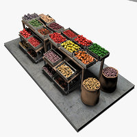 3D vegetable stand market table
