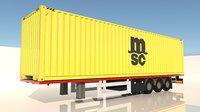 trailer msc 3D model