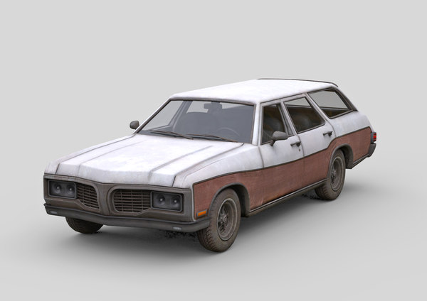 3D old generic car model
