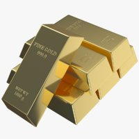 real gold bars model