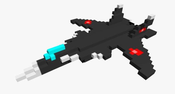 3D pixelated su-47 berkut