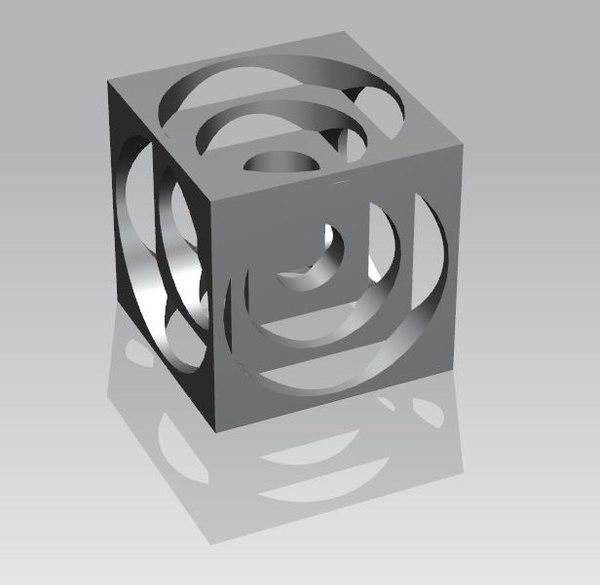 50mm turners cube 3D model