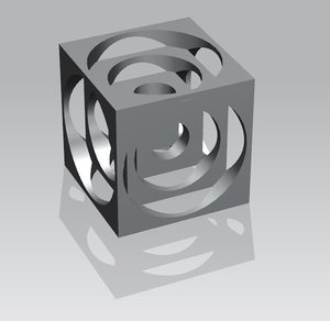 50mm turners cube 3D model