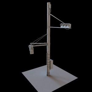 street light traffic 3D model