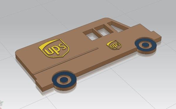 ups truck 3D model