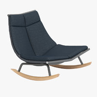3D roda laze lounge chair model