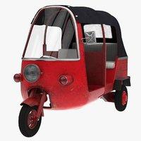 tuk vehicle 3D model