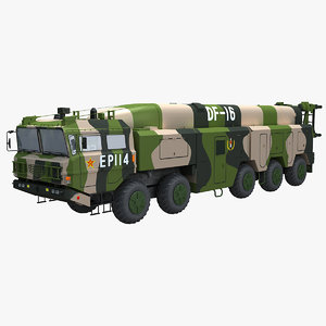 chinese df-16 missile 3D model