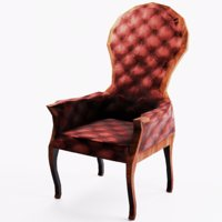 3D victorian armchair chair old