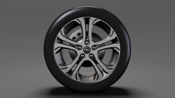 opel ampera e wheel 3D model