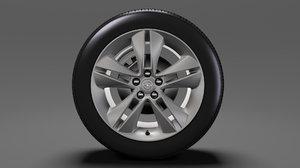 opel combo tour wheel 3D