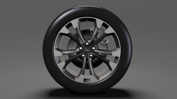 opel cascada wheel 2017 3D model