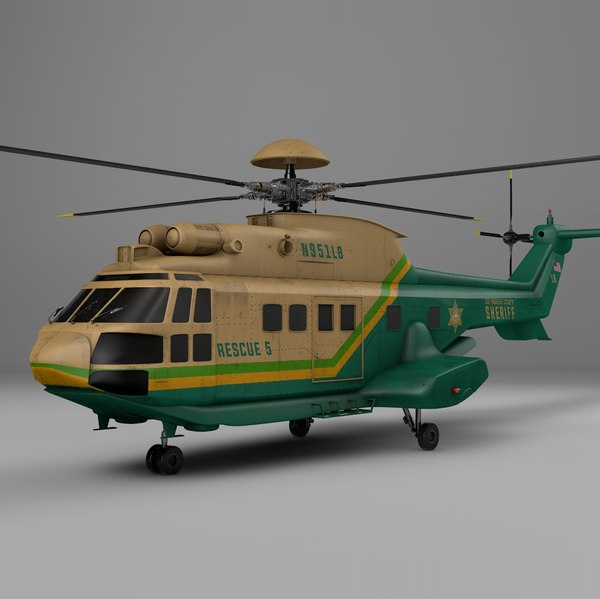 3D model eurocopter as332 la county