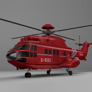 3D eurocopter as332 uk bond model
