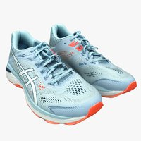 3D model retopology asics running shoes